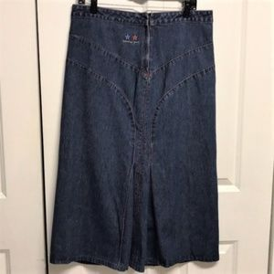 Vintage Tommy Girl Denim Skirt Size JR 11